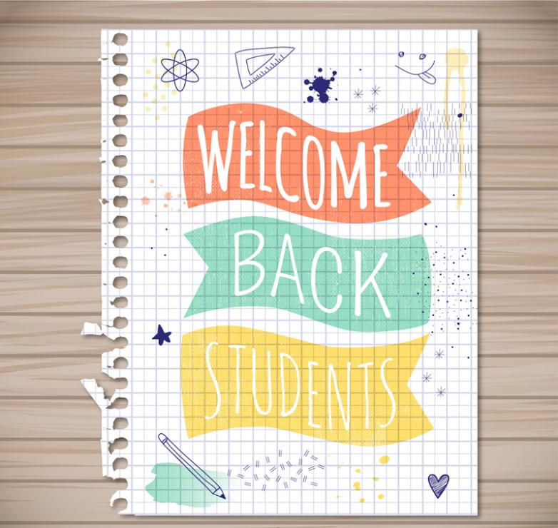 Creative Poster Loose Papers Back To School Vector