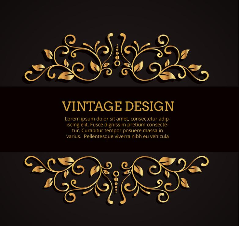 Golden Texture Pattern Banner Vector