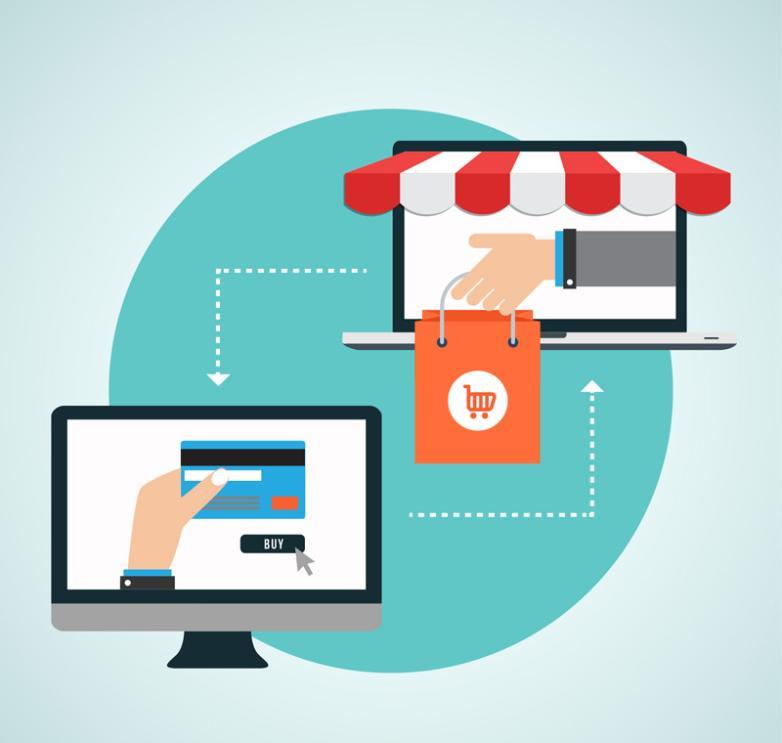 Creative Network Shopping Illustration Vector
