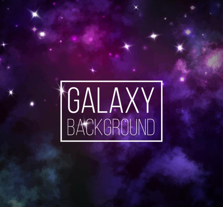 Dreamy Background Galaxy Vector