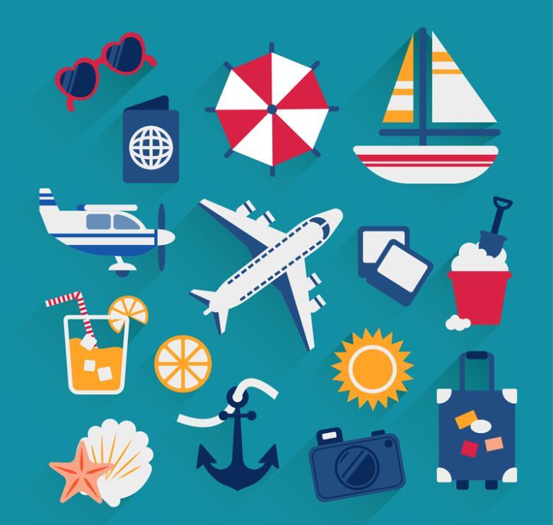 15 Fabulous Travel Element Vector
