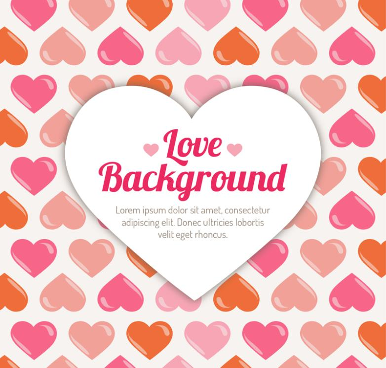 Background Color Of Love Vector