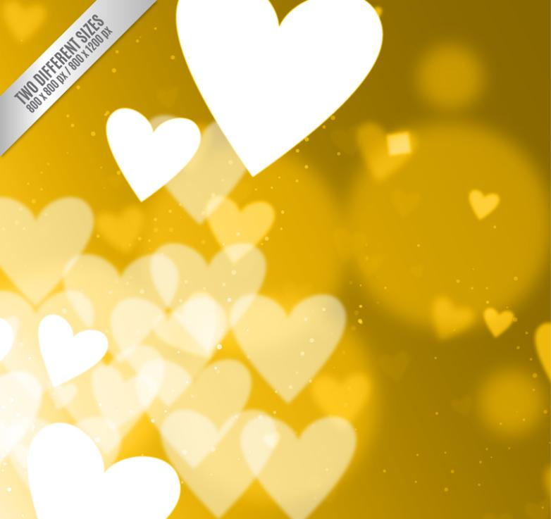 Golden Dream Love Background Vector