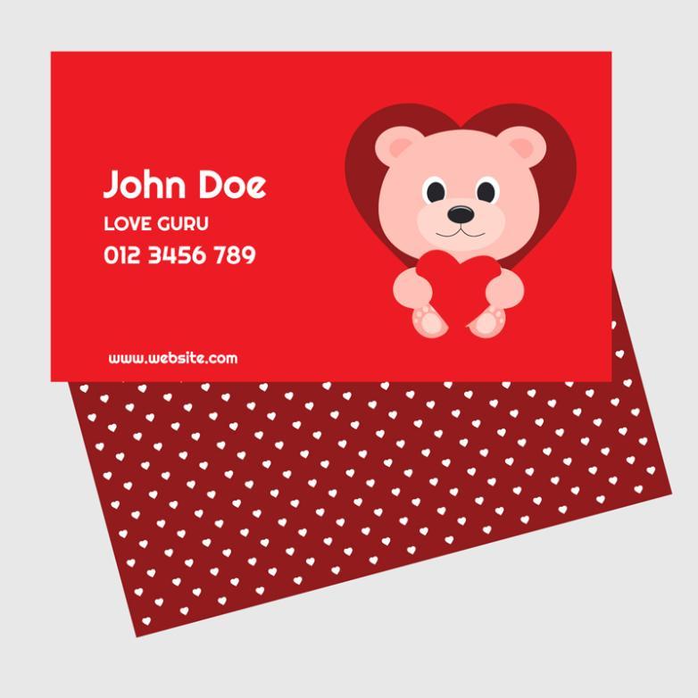 Creative Doll Bear Card Vector