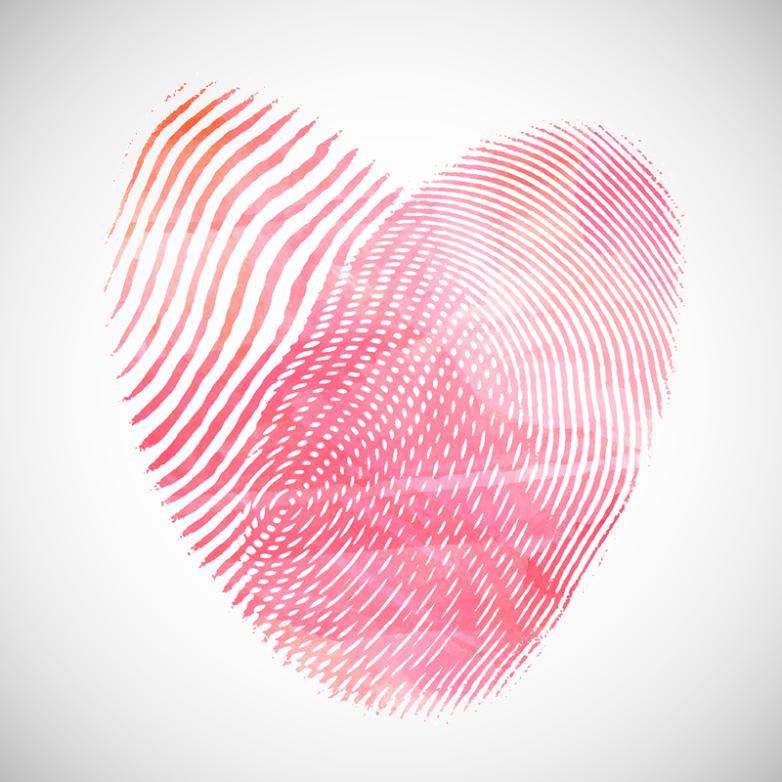 Creative Fingerprint Love Vector