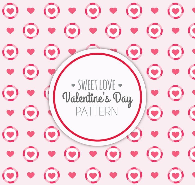 Red Valentine's Day Love Seamless Background Vector