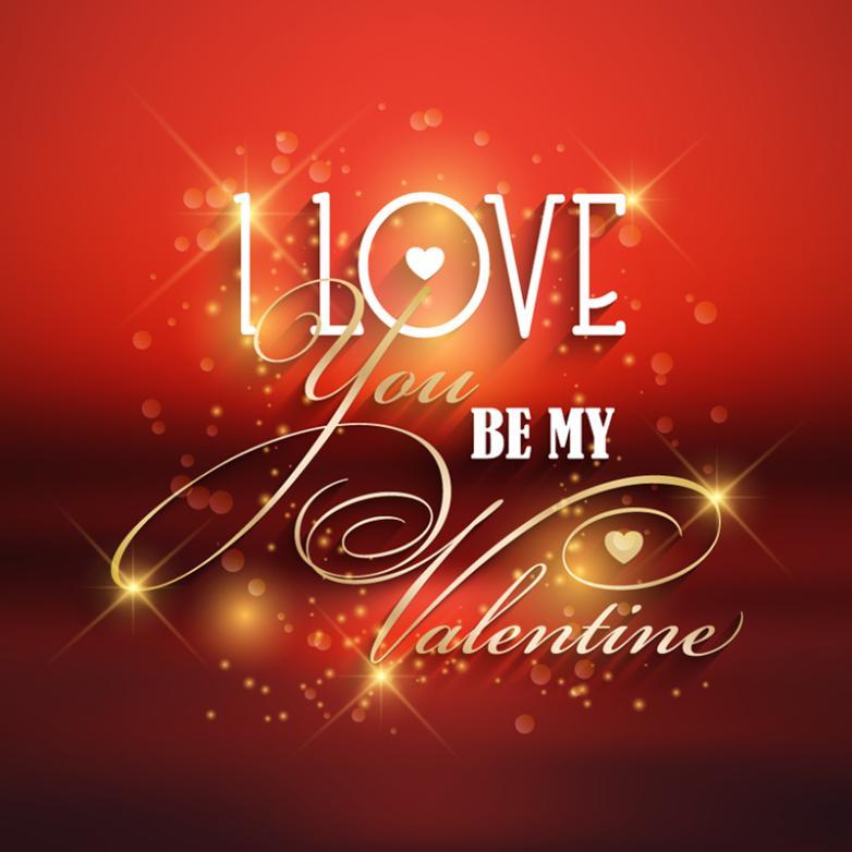 Creative Art Word Valentine's Day Vector