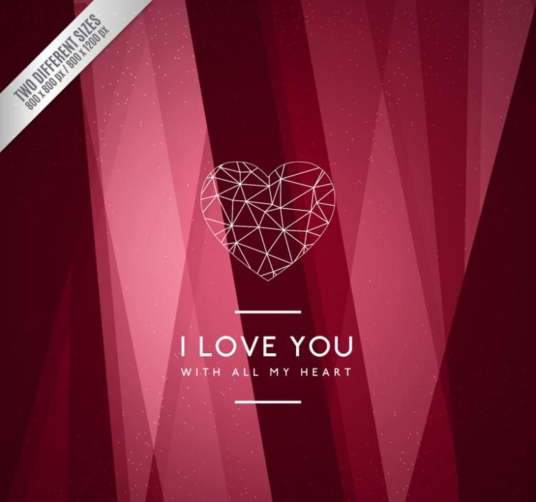 Red Fashion Valentine's Cards Vector