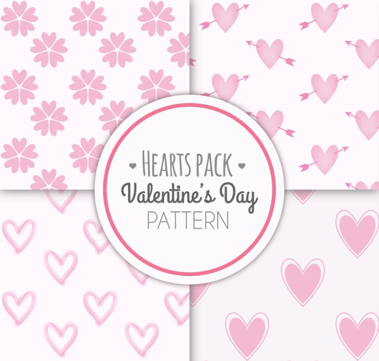 Seamless Background 4 Creative Valentine's Day Vector