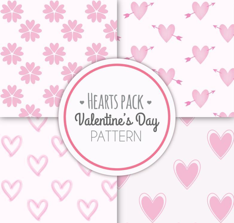 Seamless Background 4 Creative Valentine's Day Vector