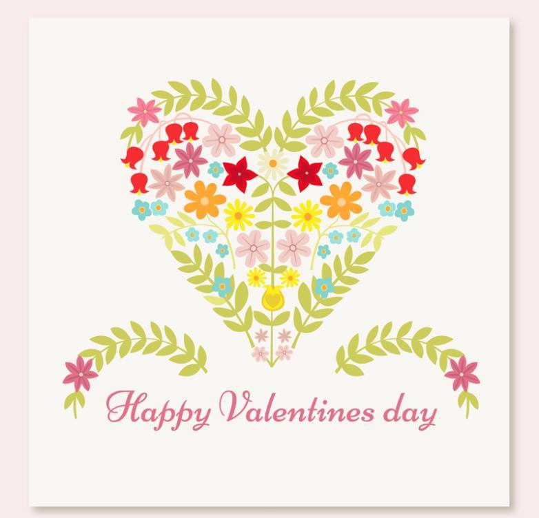 Creative Flower Love Greeting Card Vector
