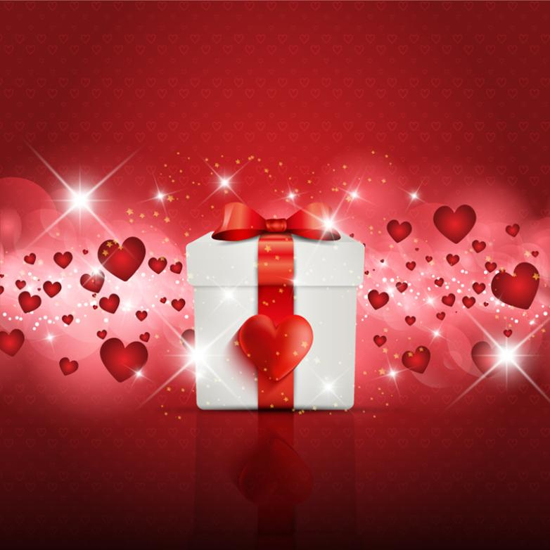 Beautiful Love And Gift Box Vector