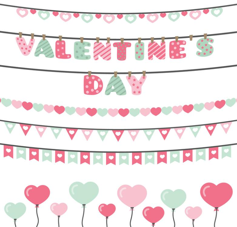 Pull The Flag Design Six Valentine's Day Vector