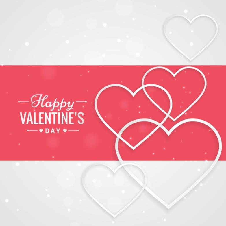 Delicate And Elegant Love Greeting Card Vector