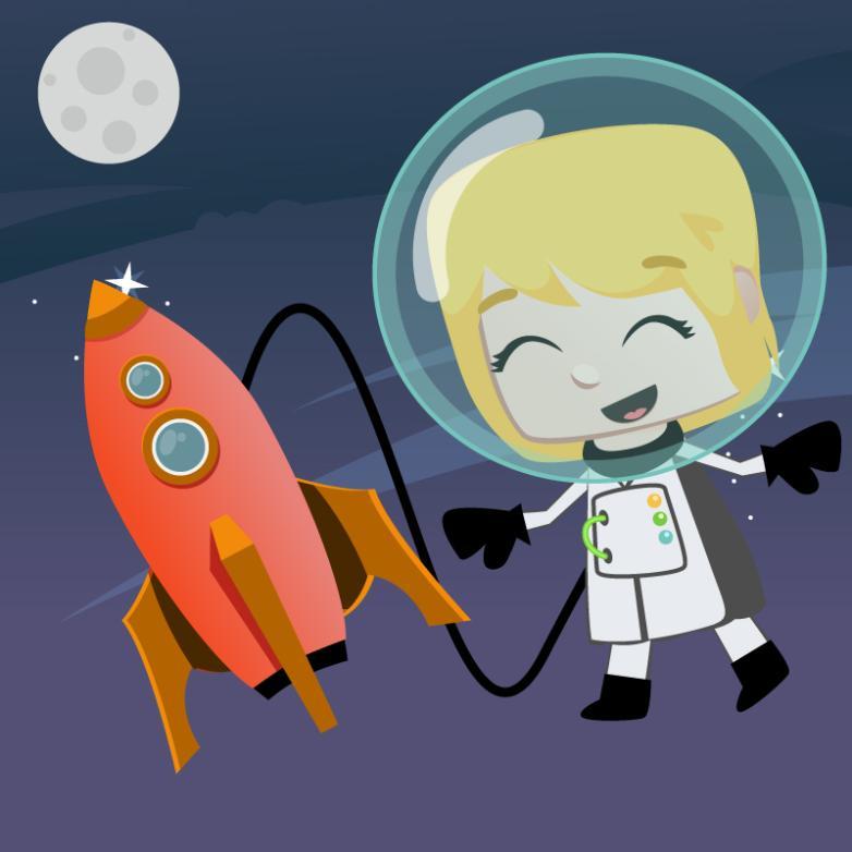 Astronauts Cute Girl Vector