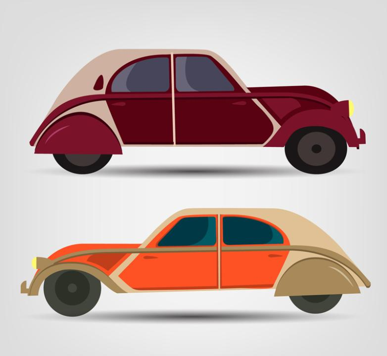 2 Or More Vehicle Design Restoring Ancient Ways Vector