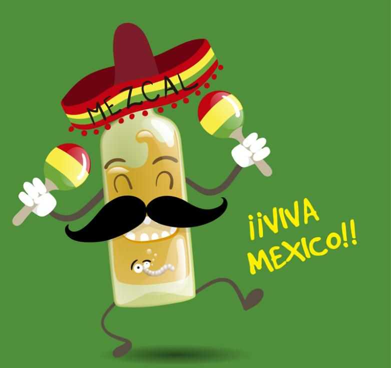 Cartoon Mexico Tequila Vector