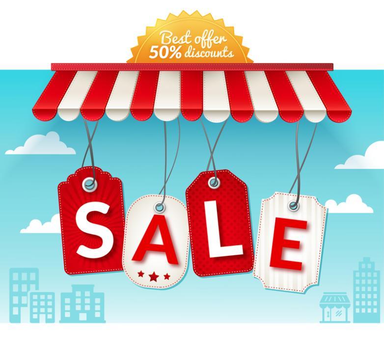 Red Creative Shop Sales Drop Vector