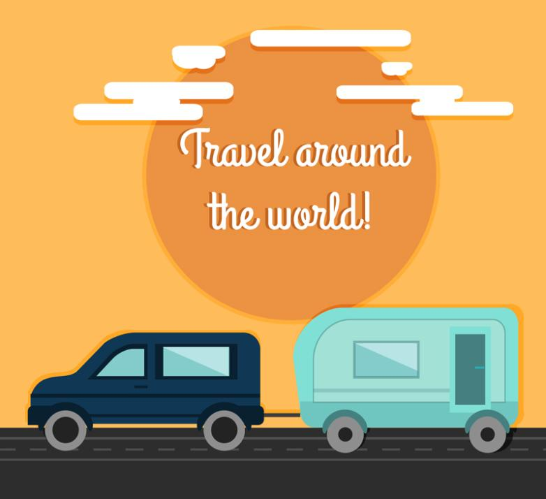 Private Car And Saloon Car To Travel Around The World Illustration Vector