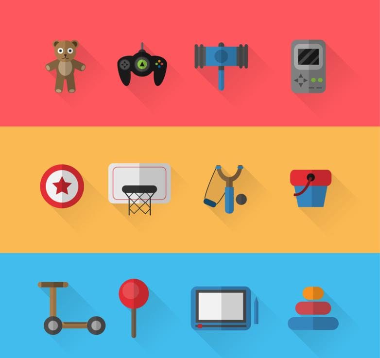 12 Exquisite Toys Vector