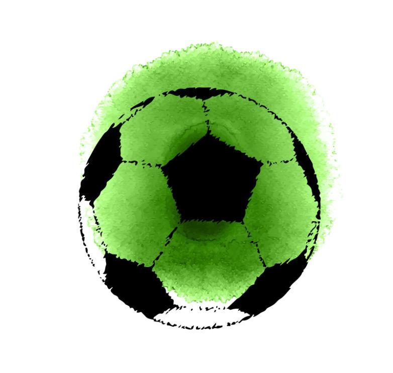 Green Water Color Shading Football Vector