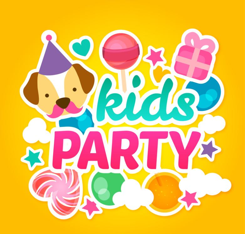 Party Color Card Vector