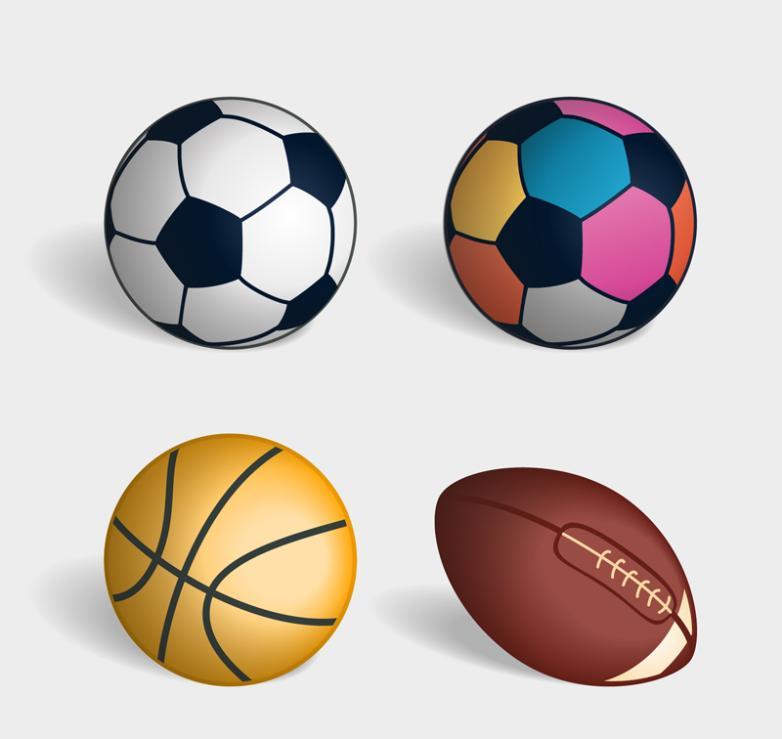 4 Nice Ball Vector