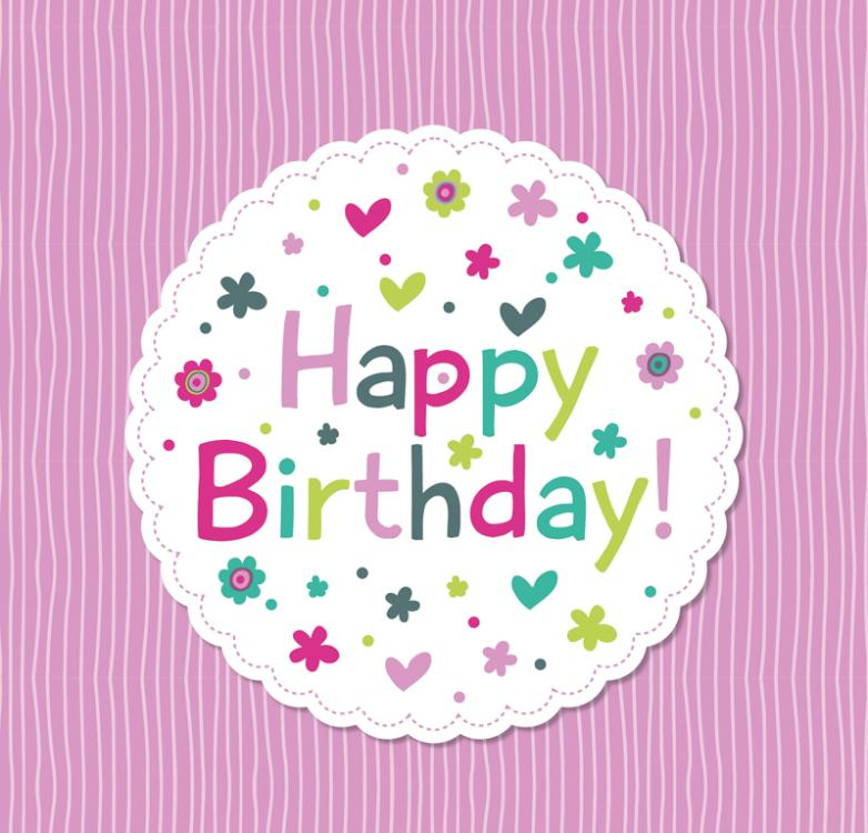 Lovely Round Birthday Cards Vector
