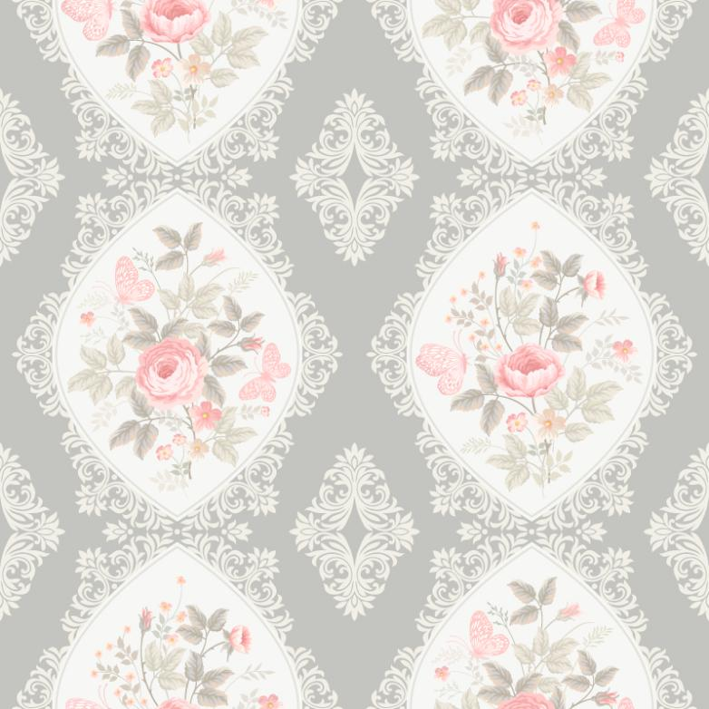 Simple But Elegant Roses Seamless Background Vector