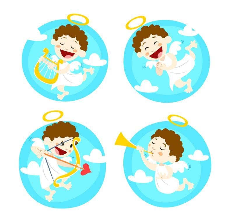 4 Lovely Angel Vector