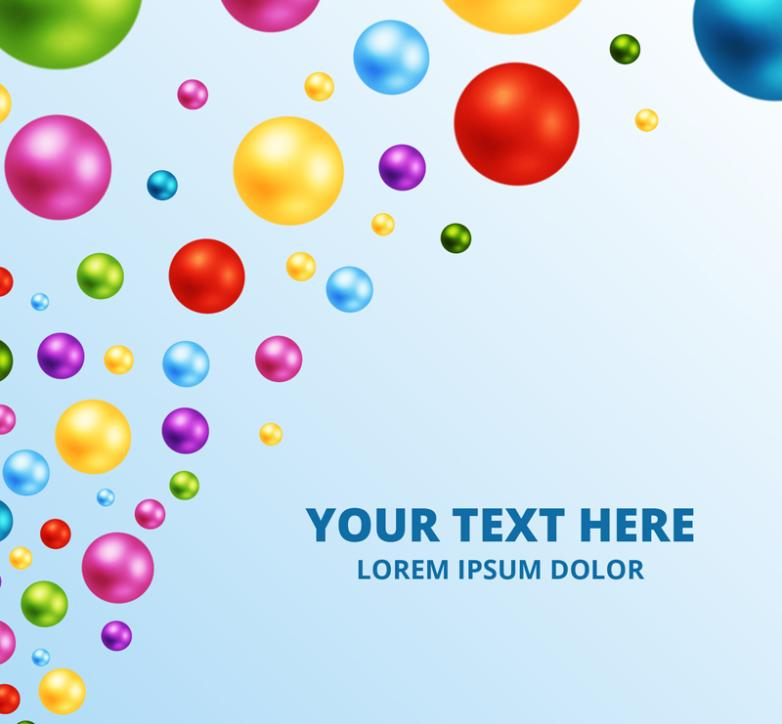 Background Color Beads Vector