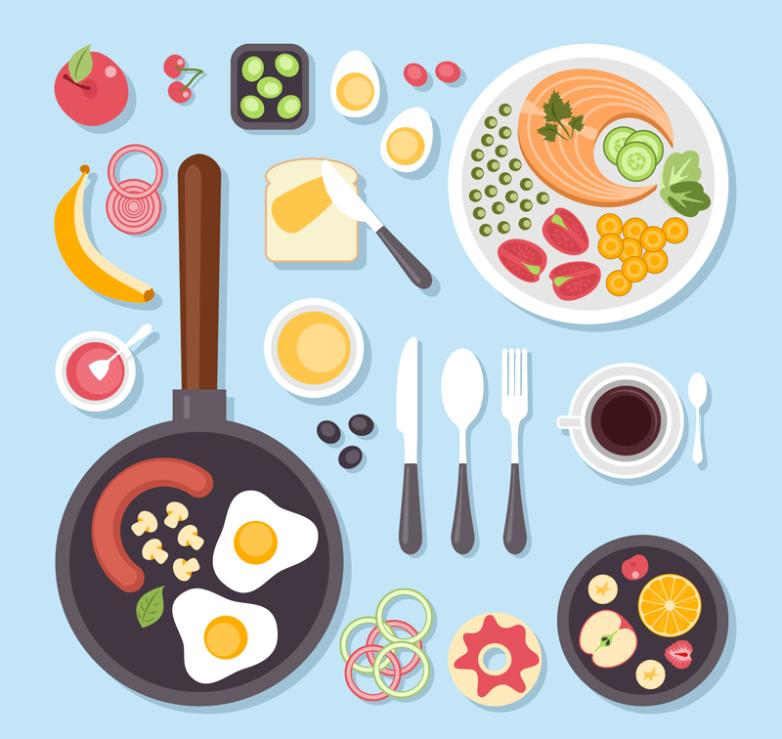 Fine Food And Tableware Vertical View Vector