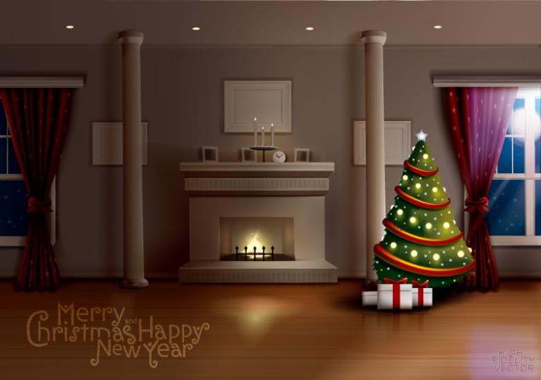 The Sitting Room Fashion Christmas Eve Vector