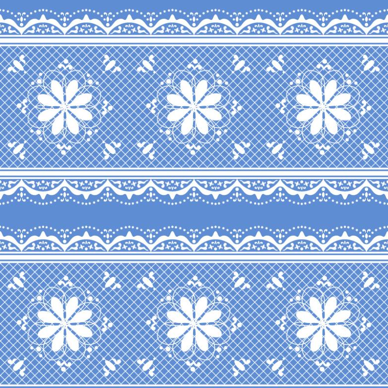 Pure And Fresh And Blue Lace Background Vector