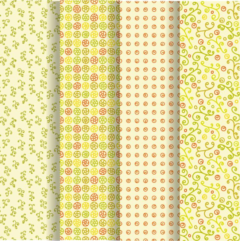 4 The Warm Color Department Pattern Background Vector