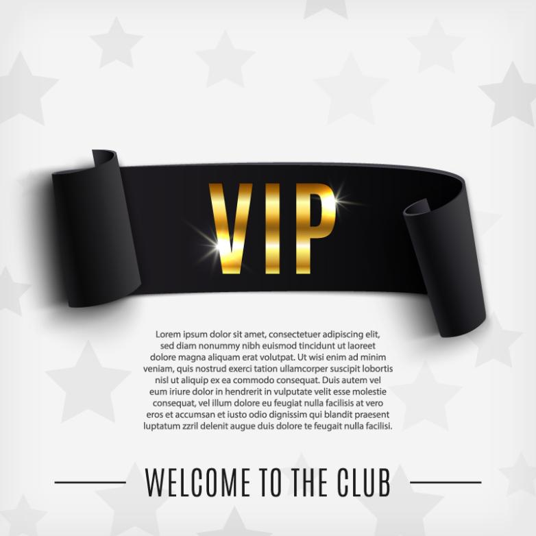 Vip Black Banner Design Vector