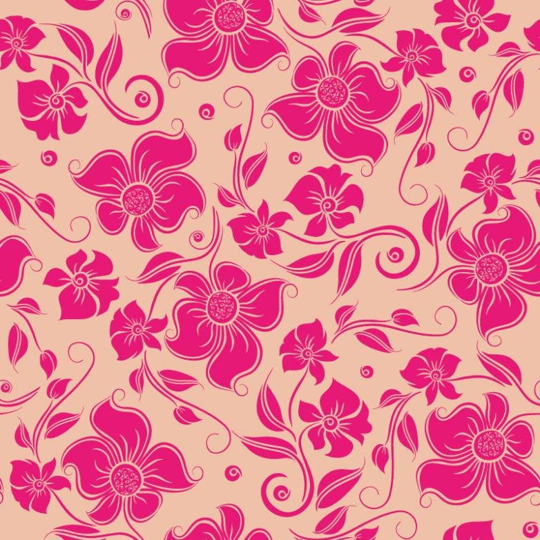 Mei Red Flowers Seamless Background Vector