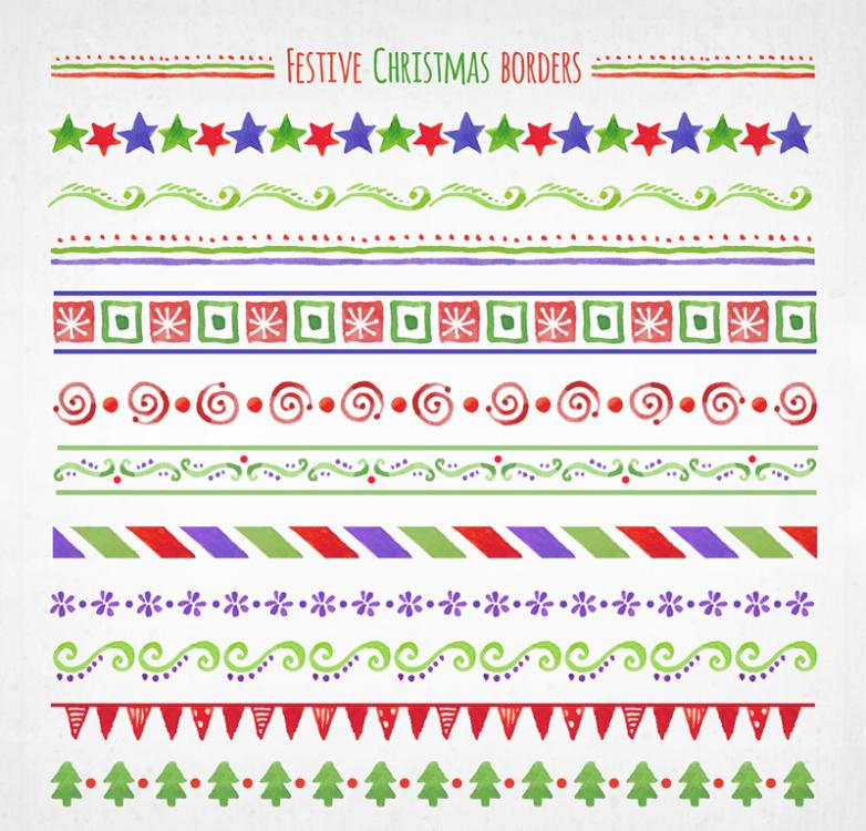 Article 11 Watercolor Christmas Lace Vector