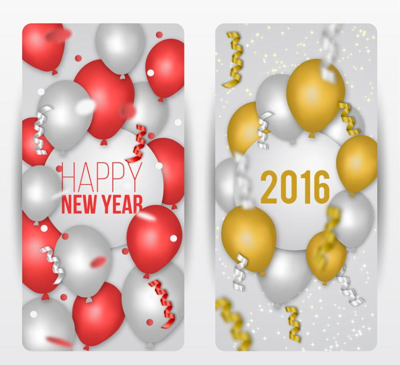 Colorful Balloons Banner In 2016 Vector