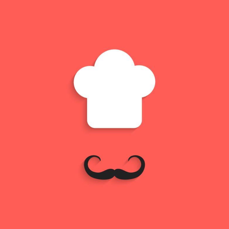 Creative Chef Hat Beard Vector