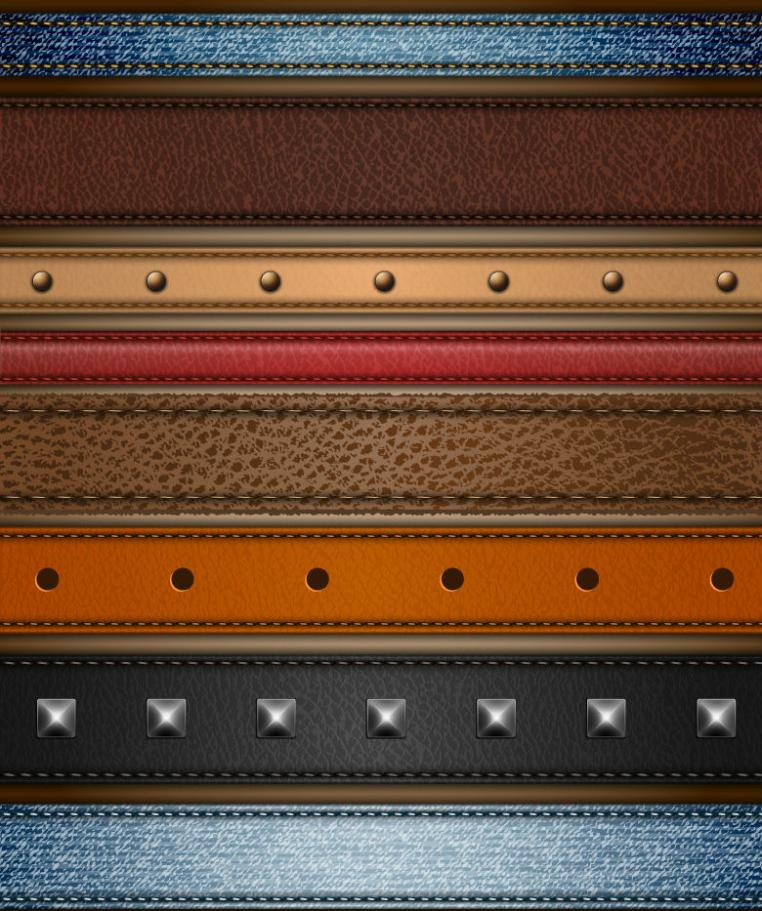 Article Eight Leather Edge Design Vector