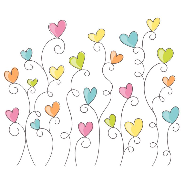 Concise Color Love Flowers Vector