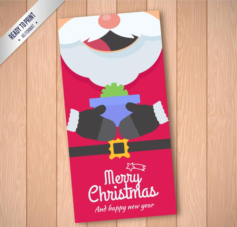 Creative Santa Card Vector