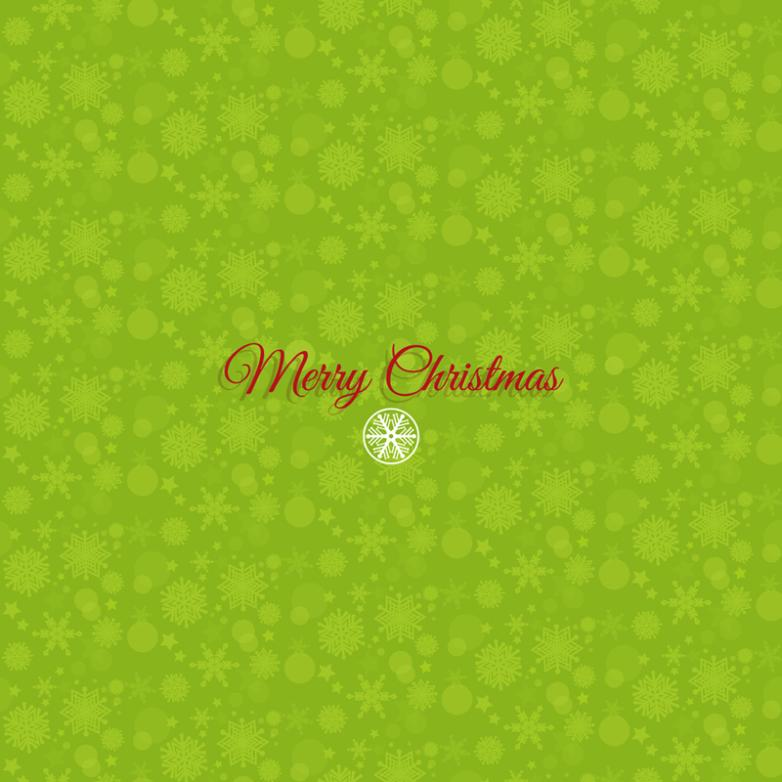 Green Snow Christmas Background Vector