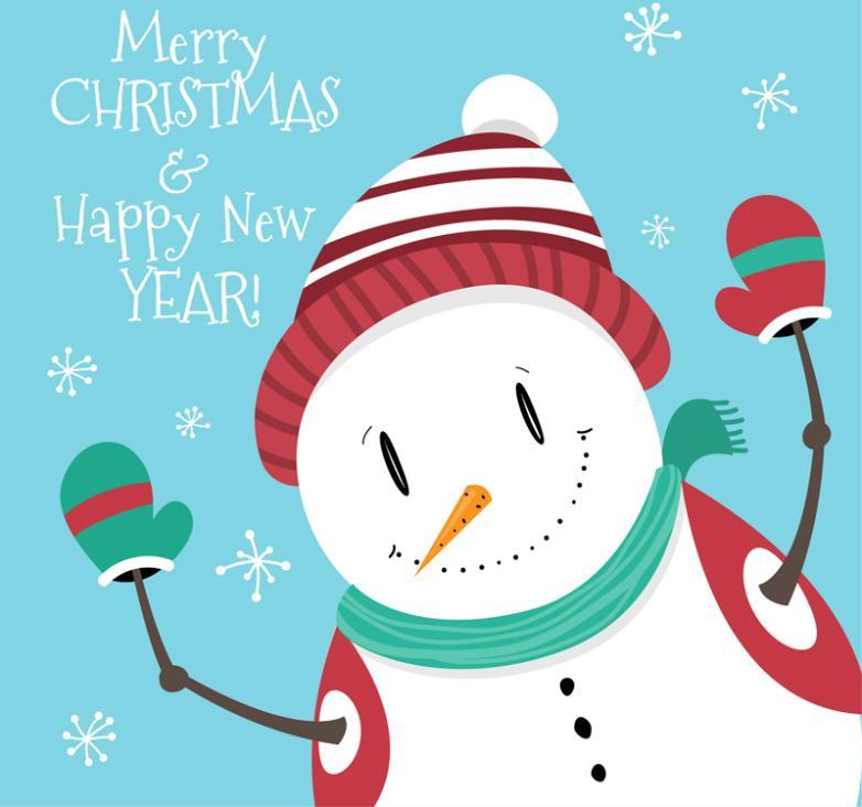Cute Snowman Design Vector