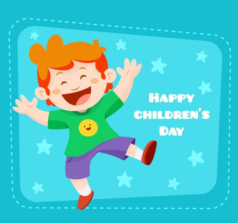 Cartoon Boy Children's Day Greeting Cards Vector