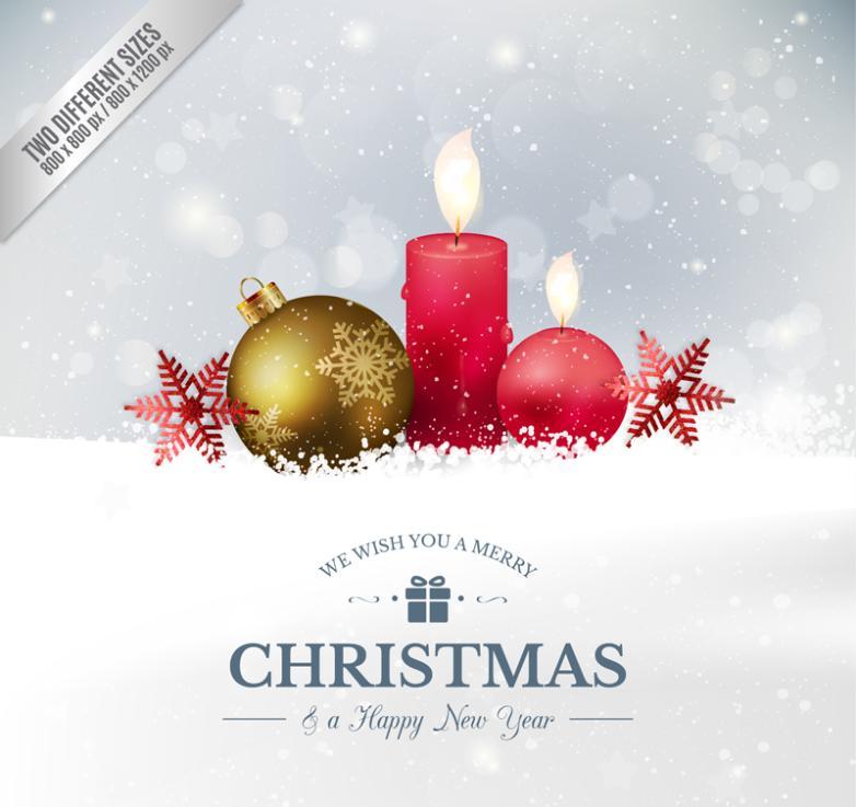 Christmas Balls Holiday Greeting Card Vector