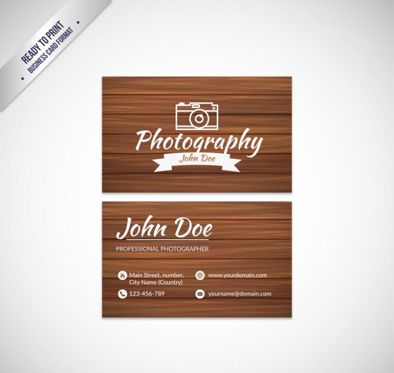 Creative Photographers Name Card Design Vector