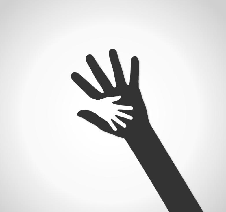 A Hand Held Small Logo Design Vector