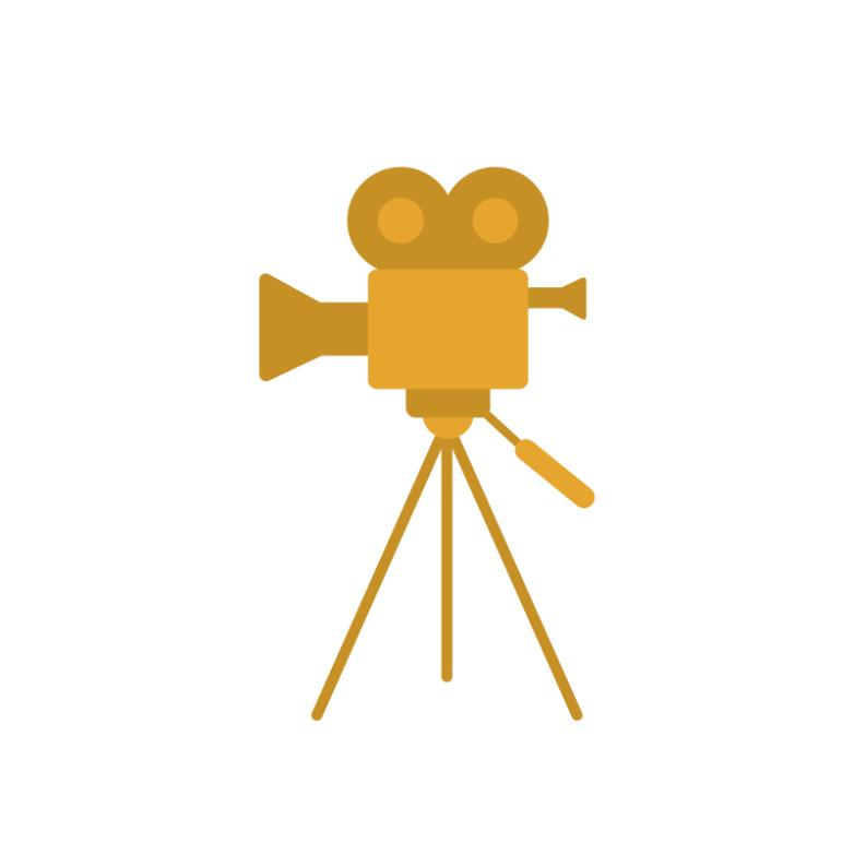 Gold Film Projector Vector